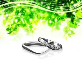 新レッスンの結婚指輪